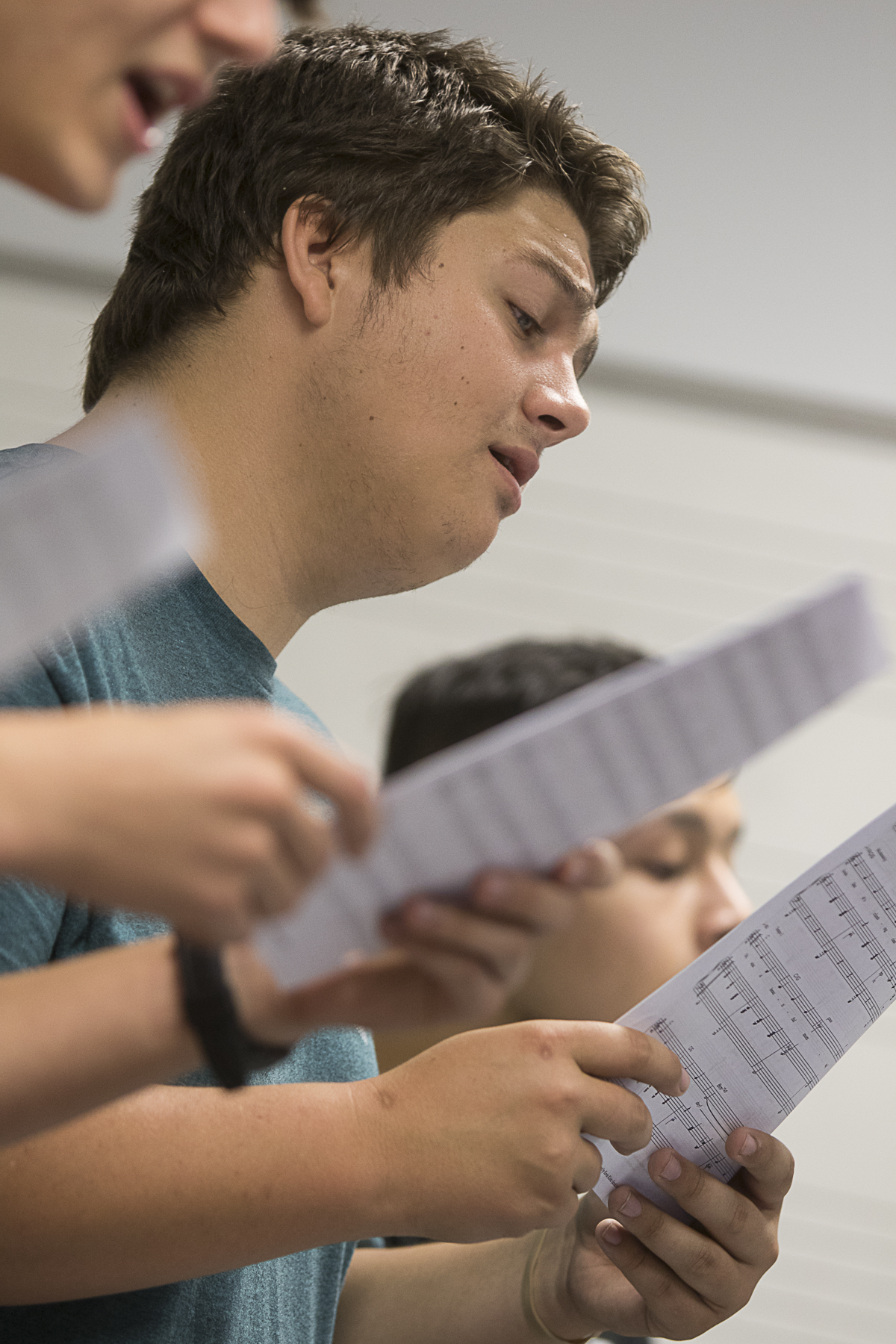 WCJC Choir member Jacob Alexander of Wharton rehearses a song