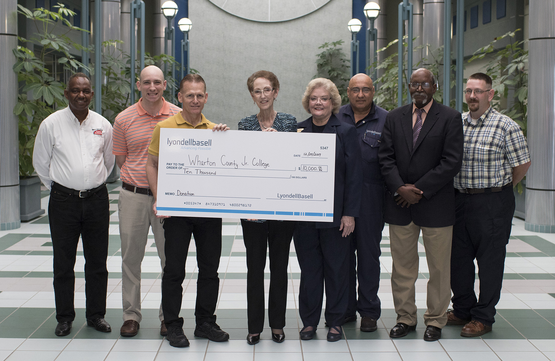 SHOW OF SUPPORT Donation benefits WCJC Process Technology program