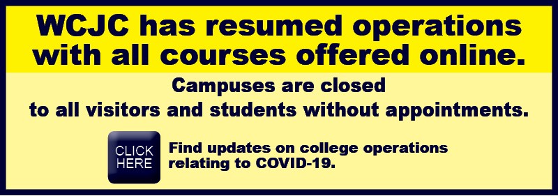 WCJC HAS RESUMED OPERATIONS WITH ALL COURSES